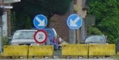 Gele verkeersobstakels zijn verleden tijd